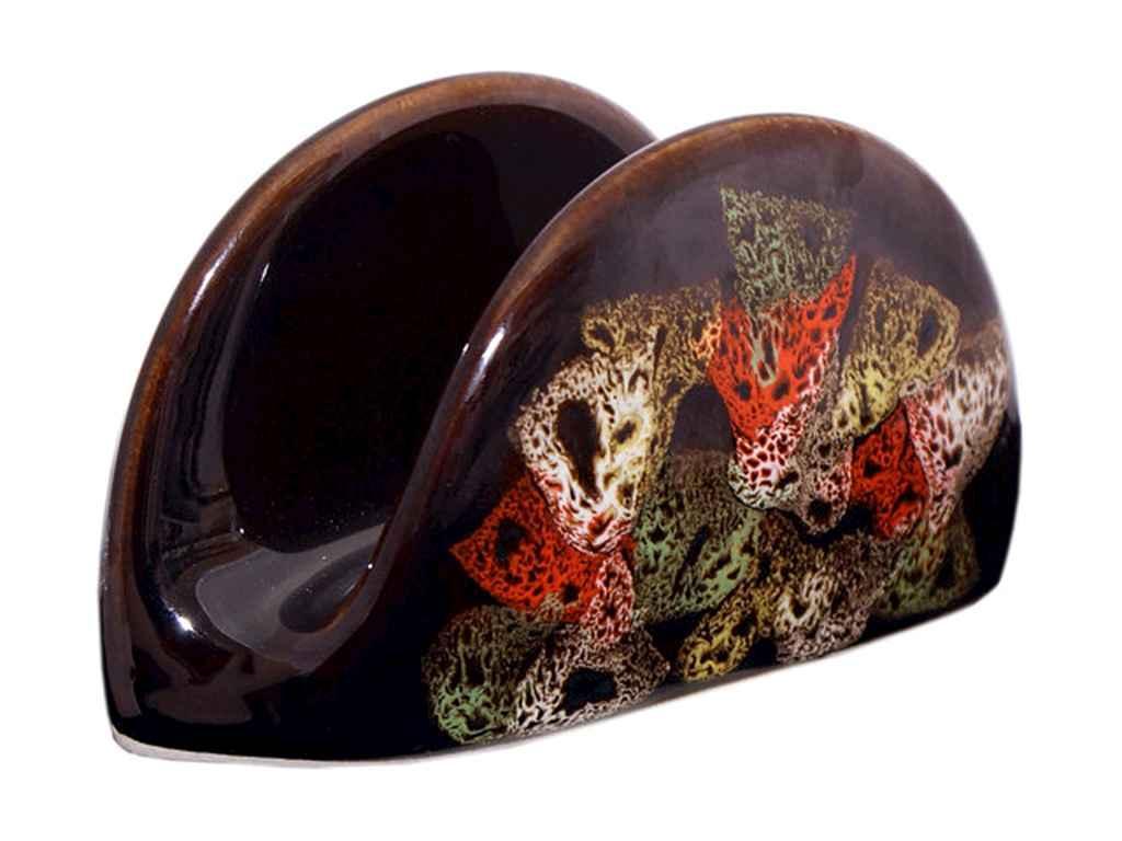 Серветниця повнокольоровий чорний глянсовий малюнок Камінці ТМ ПОЛИГЕНЬКО