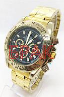 ШЛЮБ Чоловічі наручні годинники Rolex (Ролекс), золотисто-чорний колір ( код: IBW186YB-1 )