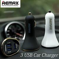 Автомобильное зарядное устройство Remax на 3USB, фото 1