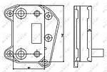 Масляный радиатор MERCEDES C200 00-