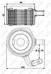 Масляный радиатор DACIA Logan 05-