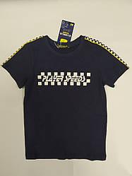 Стильная детская футболка на мальчика подростка на рост 134 см