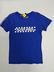 Стильная детская футболка на мальчика подростка на рост 146 см, 152 см