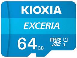 Карта памяти microSDXC 64GB Kioxia Exceria (Toshiba) UHS-1(class10)  to 100 Mb/s +SD адаптер