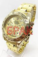 ШЛЮБ Чоловічі наручні годинники Rolex (Ролекс), золотистий колір ( код: IBW186Y-1 )