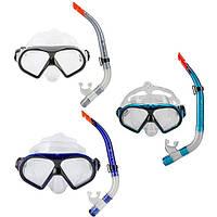 Набор для плавания маска,трубка Dolvor М9510Р+SN52Р.