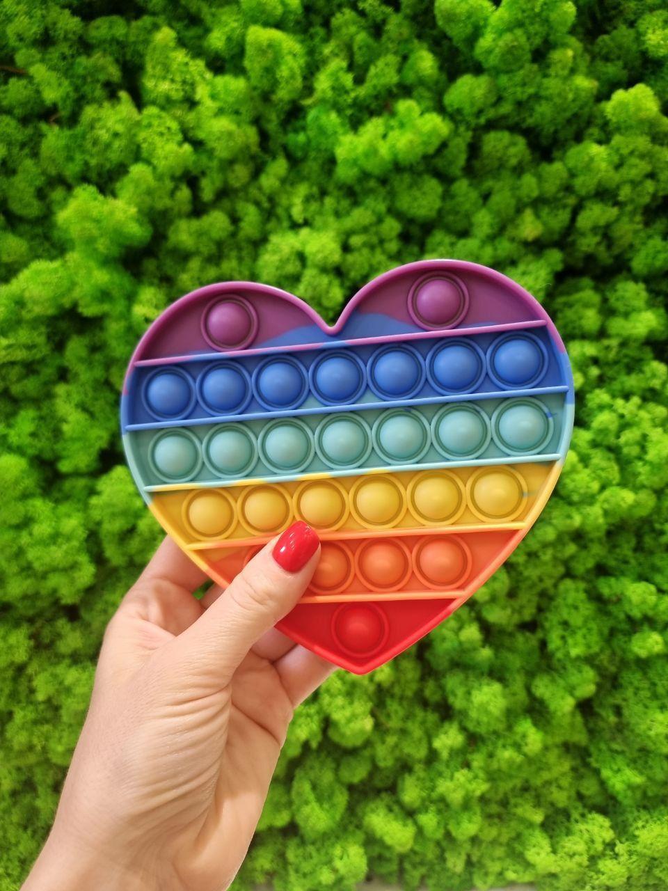 Вічна нескінченна пупирка Pop It Simple Dimple Коло (Push Pop Bubble Fidget Поп Іт Сімпл Дімпл) різнокольорови