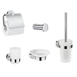 LOGIS набор аксессуаров: крючок, мыльница, держатель туалетной бумаги, стакан, туалетная щётка