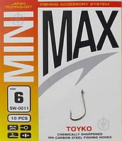 Гачки з повідками MiniMax SW-006 Iseama #6/0.18 BLN 10шт.