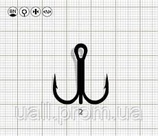 Гачки Трійні Bratfishing Y - Symetric Round Bend / 2 BN / 1 шт.