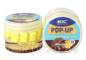 Штучна кукурудза GC в діпі Pop-Up Triple Flavored(18шт) Chocolate (Шоколад)