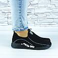 Кросівки жіночі чорні сіточка (b-692), фото 3
