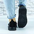 Кросівки жіночі чорні сіточка (b-692), фото 4