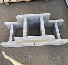 Блок бетонный для опалубки 190х390х500