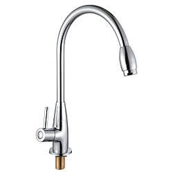 RAINBOW смеситель для кухни на гайке на одну воду, хром, 25 мм