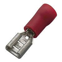 Кабельный наконечник (0.5-1.0мм) плоский штепсель (мама) с изоляцией (100 шт) (Haupa) 260386