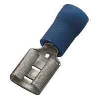 Кабельний наконечник (1.5-2.5 мм) плоский штепсель (мама) з ізоляцією (100 шт) (Haupa) 260402