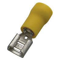 Кабельний наконечник (4.0-6.0 мм) плоский штепсель (мама) з ізоляцією (100 шт) (Haupa) 260404