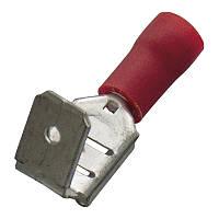 Кабельний наконечник (0.5-1.0 мм) плоский штепсель c отпайкой (мама) з ізоляцією (100 шт) (Haupa) 260410