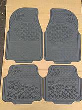 Авто килимки гумові ОПТОМ. Універсальні! Килимки в салон автомобіля (комплект 4 шт.) Сірий. KCM-893