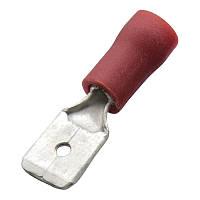 Кабельний наконечник (0.5-1.0 мм) плоский штекер (тато) з ізоляцією (100 шт) (Haupa) 260516