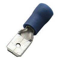 Кабельный наконечник (1.5-2.5мм) плоский штекер (папа) с изоляцией (100 шт) (Haupa) 260520
