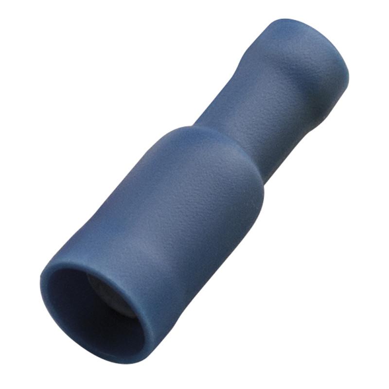 Кабельний наконечник (1.5-2.5 мм) круглий штепсель (мама) з ізоляцією (100 шт) (Haupa) 260442