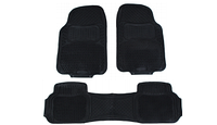 Авто коврики резиновые ОПТОМ. Универсальные! Коврики в салон автомобиля (4 шт. + перегородка) Черный. KCM-843