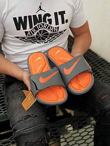 Мужские тапочки Nike Black Orange