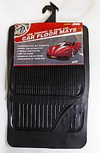 Авто килимки гумові ОПТОМ (човник) універсальні! Килимки в салон автомобіля (комплект 4 шт.) Чорний