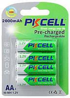 Аккумулятор PKCELL AA 2000mAh NiMH Pre-Charged 4шт