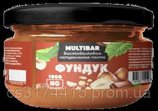 Высокобелковая натуральная паста MULTIBAR Фундук (190 грамм)