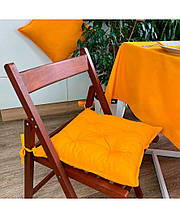 Подушка на стілець табурет бавовна Orange
