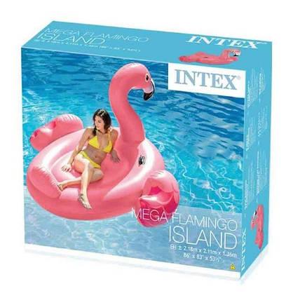 Большой надувной Розовый фламинго Intex 57288