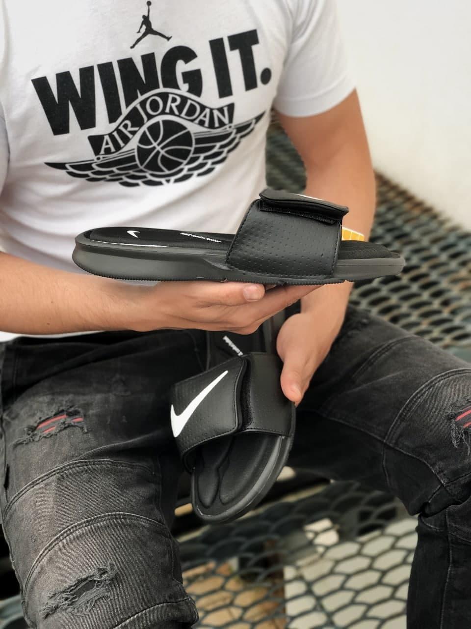 Мужские тапочки Nike Black White