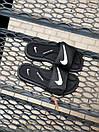 Мужские тапочки Nike Black White, фото 2