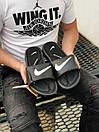 Мужские тапочки Nike Black White, фото 5