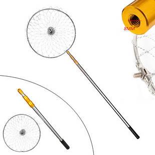 Подсак сачок рыболовный 2м телескопический круглый, алюминий