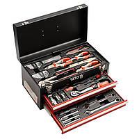 Ящик з інструментами YATO з висувними полицями 80 предметів (YT-38951)