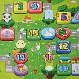 Дитячий килимок двосторонній розвиває букви цифри 120х180 термокилимок для дітей Ігровий мат, фото 2