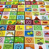 Дитячий килимок двосторонній розвиває букви цифри 120х180 термокилимок для дітей Ігровий мат, фото 5