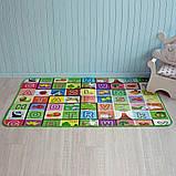Дитячий килимок двосторонній розвиває букви цифри 120х180 термокилимок для дітей Ігровий мат, фото 7
