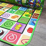Дитячий килимок двосторонній розвиває букви цифри 120х180 термокилимок для дітей Ігровий мат, фото 8