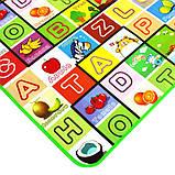 Дитячий килимок двосторонній розвиває букви цифри 120х180 термокилимок для дітей Ігровий мат, фото 9