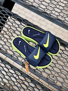 Мужские тапочки Nike Black Green
