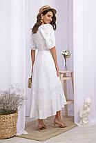 Шикарное белое платье из прошвы и батиста длинное платье  S M L XL, фото 3