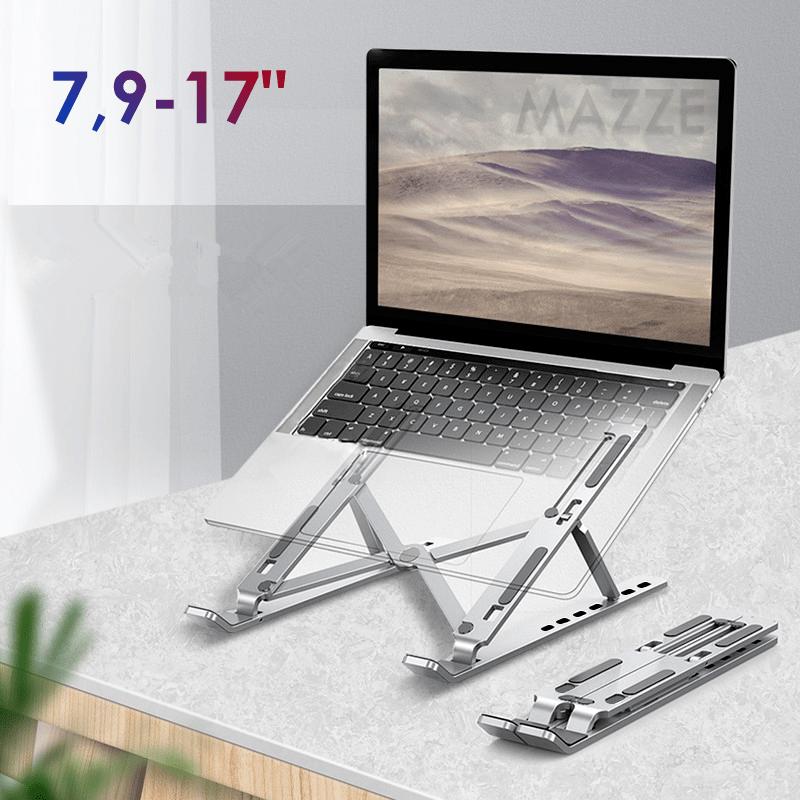 """Складна портативна підставка для ноутбука планшета 7.9-17"""" універсальний розкладний тримач 7 рівнів"""