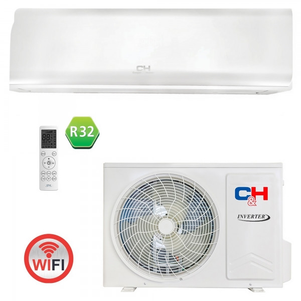 Кондиционер тепловой насос Cooper&Hunter CH-S09FTXN-PW R32 Wi-Fi