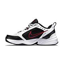 Оригиналы мужские кроссовки Nike Monarch, белые с красной эмблемой найк, повседневные найк монарх