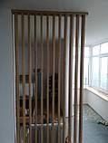 Дерев'яні рейкові панелі. рейкові перегородки. Декоративні рейки Дерев'яні панелі, фото 5